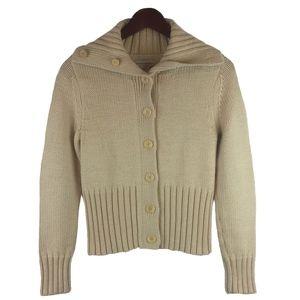 Banana Republic Wool Beige Cream Cardigan Size S